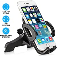 CD Phone Mount, BOOCOSA CD Slot Holder for Car, Universal Cell Phone Stand Cradle, Suit for iPhone X/8P/8/7P/7/6S/6P/6,for Samsung Galaxy Google, LG, Huawei & GPS Device, One-Touch Release