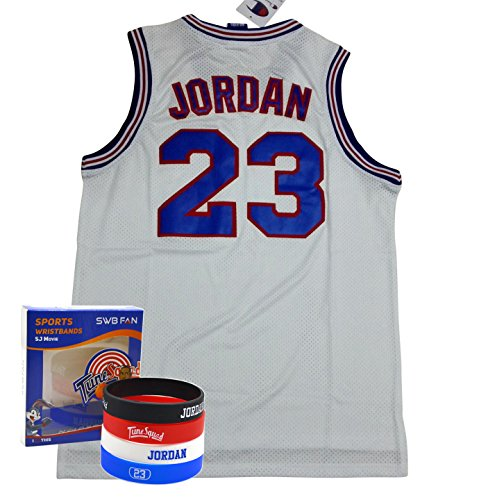 879a7cd63b9c Kids Space Jam Jersey  23 Michael Jordan Tune Squad Kids Basketball ...