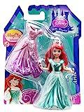 Disney Princess Little Kingdom Royal Fashions MagiClip Dolls & Fashions Rapunzel, Belle, Ariel & Cinderella Gift Set Bundle - 4 Pack