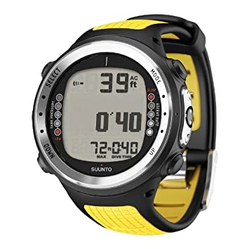 Suunto D4i – Reloj de buceo para hombre con USB, correa de color amarillo Athletic