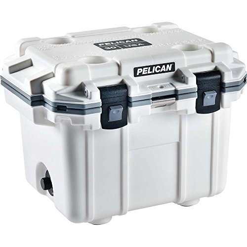 Pelican 30Q-1-Whtgry Ice Chest Elite 30 Qt White / Gray Polypropylene Polyurethane Foam Insulated Body (Ice Elite)