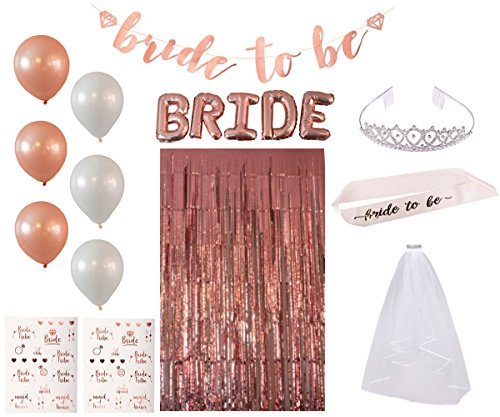 Bachelorette Party Supplies - Rose Gold Bridal Shower