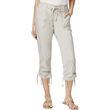 7c685a397d INC International Concepts Ruffled-Waist Cropped Cargo Pants at ...