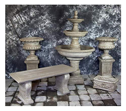 Fleur de Lis Garden Ornaments LLC Three Tier Renaissance Fountain with Classic Urns Package Number 1000