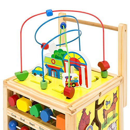 Best Choice Products 5-in-1 Educational Wooden Toy Bead Maze Learning Activity Cube Set by Best Choice Products (Image #3)