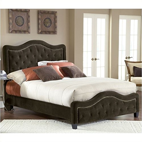 Hillsdale Furniture 1554BKRT Trieste Bed Set with Rails, King, Chocolate