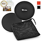 Limm Dual-Sided Core Exercise Sliders - Gym Gliding Discs for Ab Training, Stability, Legs, Full Body (Set of 2) | with Free Carry Bag and Workout Ebook | Sliding Pads for Hardwood, Carpet & More