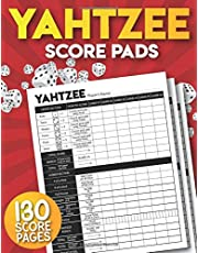 Yahtzee Score Pads: 130 Large Score Sheets for Scorekeeping | Yahtzee Score Cards.