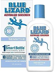 Blue Lizard Australian Sunscreen, Sensitive SPF 30+, 5-Ounce