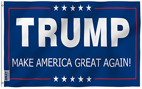Anley  Fly Breeze  3X5 Foot Donald Trump Flag   Vivid Color And Uv Fade Resistant   Canvas Header And Double Stitched   The 45Th U S  President Flags Polyester With Brass Grommets 3 X 5 Ft