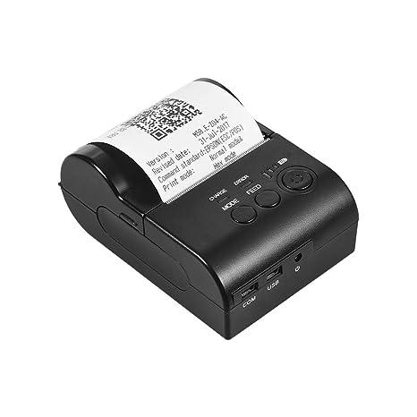 Aibecy Personal Mini portátil de 58 mm Inalámbrico BT Impresora ...