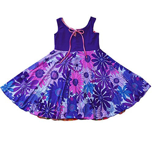 Twirly Girl Circle Skirt Dress Girls Reversible Flip Spin Purple Pink USA Made by TwirlyGirl (Image #4)