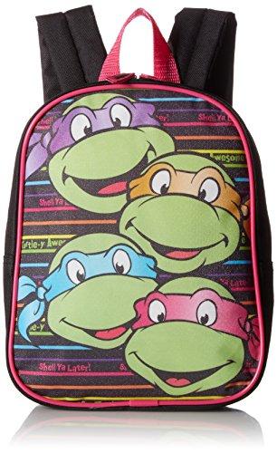 Teenage Mutant Ninja Turtles Little Girls Turtle Power Backpack, Black, One Size