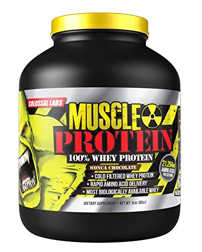 Colossal Labs Monster Muscle Protein – 100% Cold Filtered Whey Protein – Rapid Amino Acid Delivery – Natural Chocolate for a Rich Flavor
