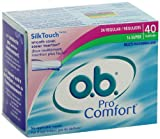 o.b. Pro Comfort Tampons, Multi-Pack, 40 Count