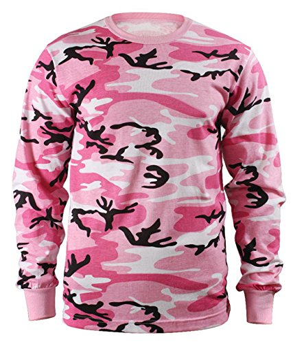 Rothco Long Sleeve T-Shirt/Pink Camo, Medium (Womens Military Boots)