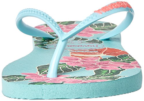 Pictures of Havaianas Women's Slim Floral Sandal Ice Blue B(M) 5