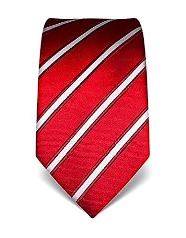 Vincenzo Boretti Men's Silk Tie - striped - many colors (Seta Zipper)
