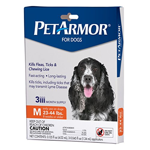- PetArmor for Dogs, Flea and Tick Treatment for Medium Dogs (23-44 Pounds), Includes 3 Month Supply of Topical Flea Treatments