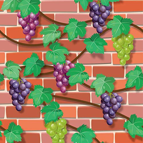 QBZXL 3D Grape Pattern Wall Stickers, Self-Sticking Wallpaper, Soundproofing Wallpaper for Living Room,Bedroom,Bar,TV Wall, 45cmX10m