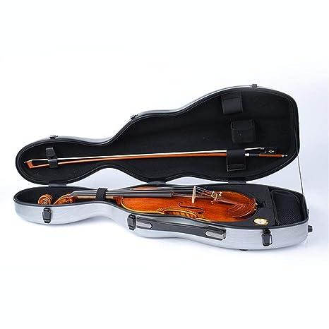 Funda de violín CRBTA 4/4 tamaño violín de fibra de vidrio ...