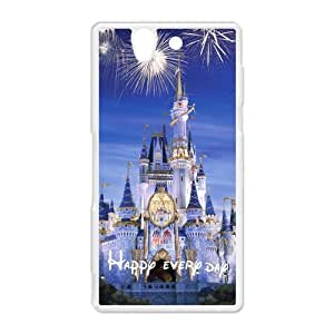 diy zhengCute Disney Castle Hard Protective Plastic Back Case Cover for Sony Xperia Z Perfect as Christmas gift(6)