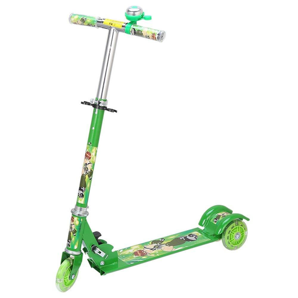 Runplayer 子供の三輪フラッシュスクーター、折りたたみ式、子供のおもちゃ、スケートボードのカート Green、子供の贈り物に適しています ( Color Color : : Green ) B07R133SXX, COOL CAT:8ad00c99 --- test.mail02.ferraridentalclinic.com.lb