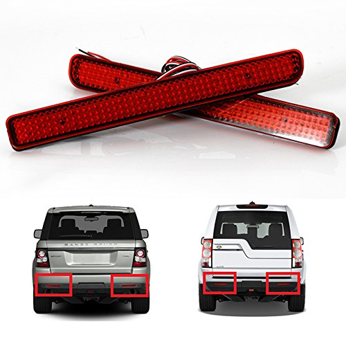 Bumper Land Rover (Heart Horse 24 LED Rear Bumper Reflector Parking Brake Running Turning Light For Land Rover/Discovery 3 4/L320/Facelift)