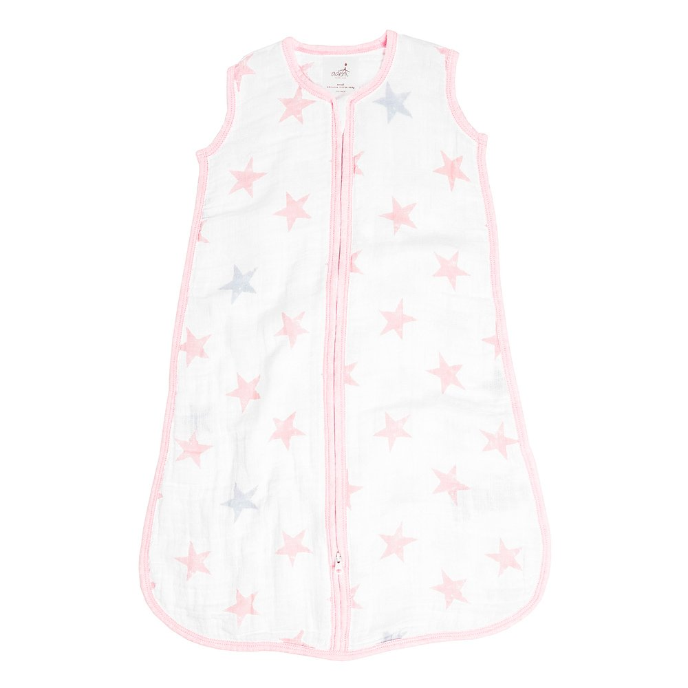 Aden + Anais Classic Sleeping Bag, 100% Cotton Muslin, Wearable Baby Blanket, Doll, Stars, Extra Large, 18+ Months
