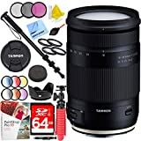 Tamron 18-400mm f/3.5-6.3 Di II VC HLD All-in-One Zoom Lens for Canon Mount with 72mm Filter Sets Plus 64GB Accessories Bundle