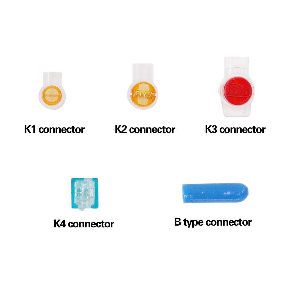 Amazon.com: Hilitchi 310Pcs Data Phone Wire Butt Splice Connector ...