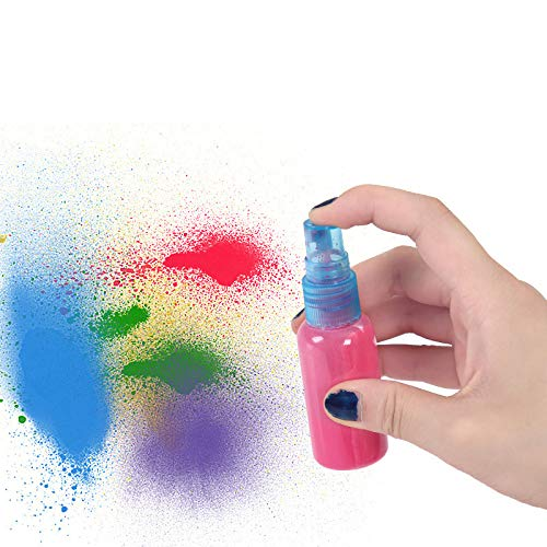 6pcs Childrens watercolor acrylic paint dissolve dilute special small spray bottle Press type watering can Painting tools