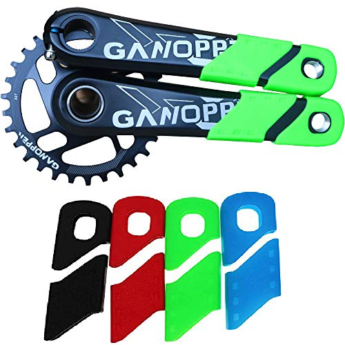 Road Cranks Crankset - Road Track Bike Crankset Boots Protector Bicycle Sleeve Cover 30T 32T 36T 38T 40T Chainring 11S Crank Set Narrow Wide Chainring For Sram GXP XX1 X9 XO X01 Crank Arm Boots Dust Proof Cover (Green)