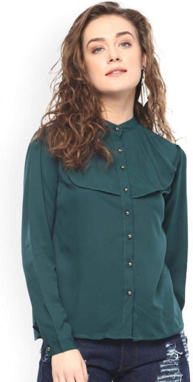 XXL M Dream Angel Fashion Women Bollywood Designer Green Solid Top Stylish
