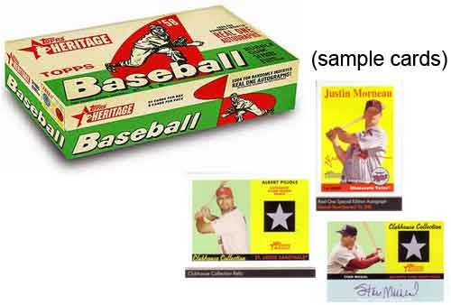 2007 Topps Heritage Baseball Cards Hobby Box (24 packs/box, 8 cards/pack) -