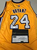 Kobe Bryant Autographed Signed Gold Los Angeles Lakers Jersey Certified Authentic Panini Hologram & Coa Card