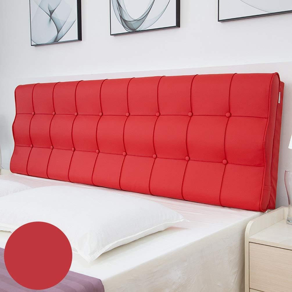No Bed Soft Pack Leder Double Washable Tatami Großes Kissen Bett Kissen Große Rückseite Bettbezug S Oberfläche, für Bett ohne Kopfteil Multi-Color Optional ( Color : A , Size : With headboard-180cm )