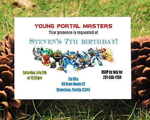 Set of 10 Boys Skylanders Birthday Party Invitations]()
