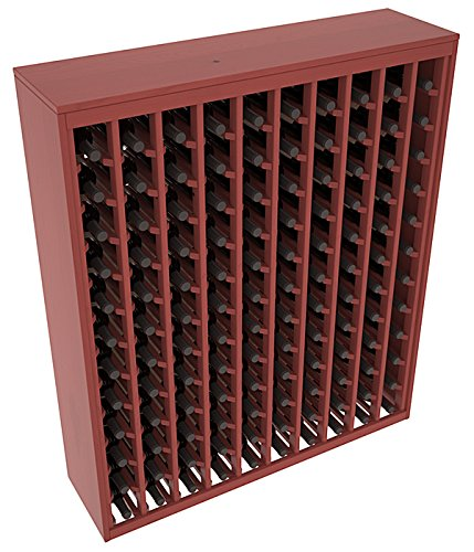 (Wine Racks America Ponderosa Pine 120 Bottle Deluxe. Cherry Stain + Satin)