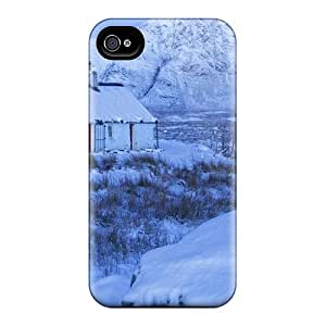 RnRLWiH2155HaqXC Faddish Cottage At Winter In Scotl Case Cover For Iphone 4/4s