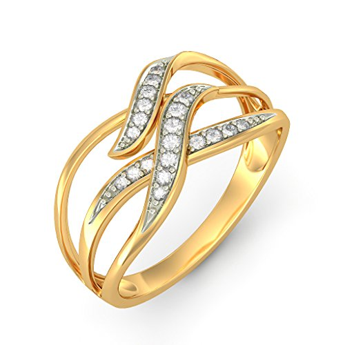 Or jaune 18K, 0,1carat Diamant Blanc (IJ | SI) en diamant
