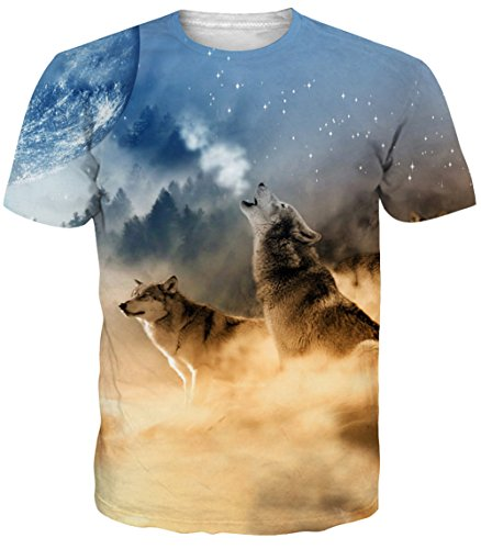 Kids Printed T-shirts - Idgreatim Girls Casual Cool 3D Printed Space Short Sleeve T-Shirt Graphic Tees