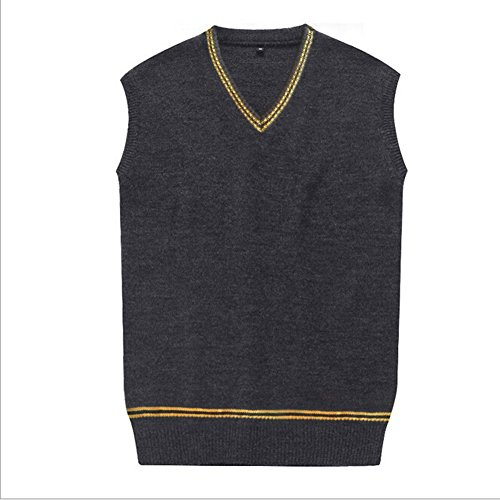 Amayar Cosplay Costumes unisex Sweater Fall and Winter Vest Waistcoat,Yellow and grey Sweater,Small
