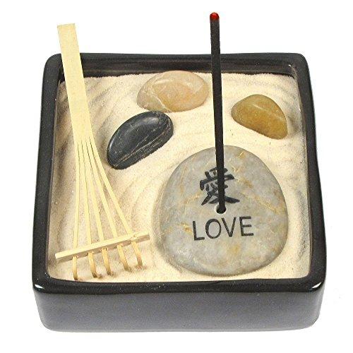 LOVE Jasmine Incense Zen Garden, Everything Needed to Create Your Own Ceramic Incense Zen Garden, Relieve Stress and Relax! by Eve's Garden, Inc