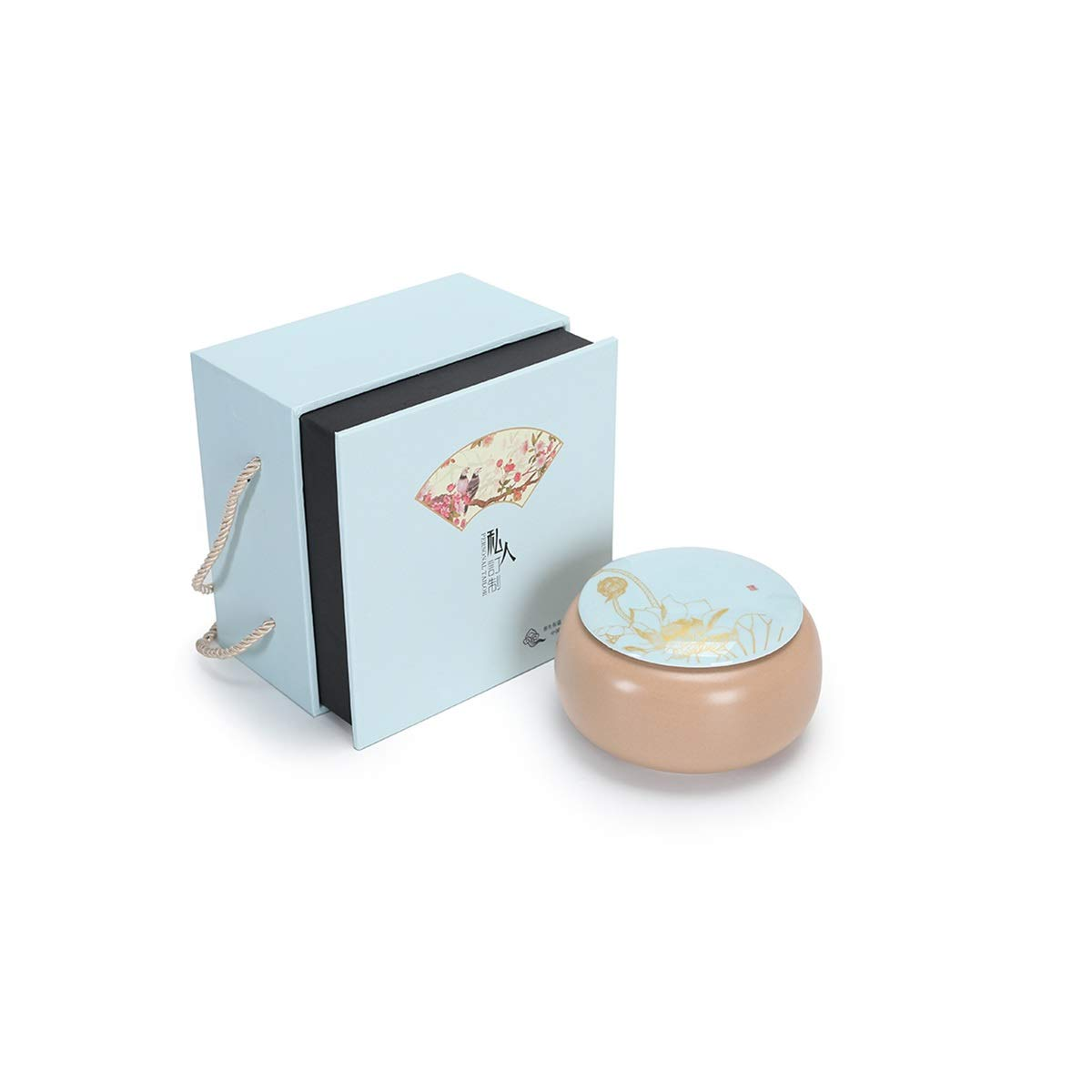 bluee E bluee E Tongboshi Angel Star, Pet Urn, Cremation Urns for Pets, Functional Urn, Ceramic Sealed, Moisture Proof, Keepsake Box for Dogs and Cats, Wooden Gift Box Hardcover (color   bluee, Style   E)