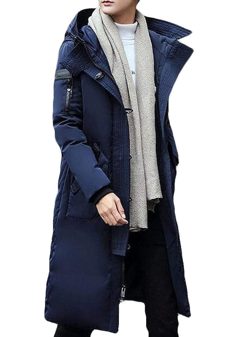 XiaoTianXinMen XTX Mens Outwear Winter Thicken Parka Long Down Puffer Quilted Coat Overcoat