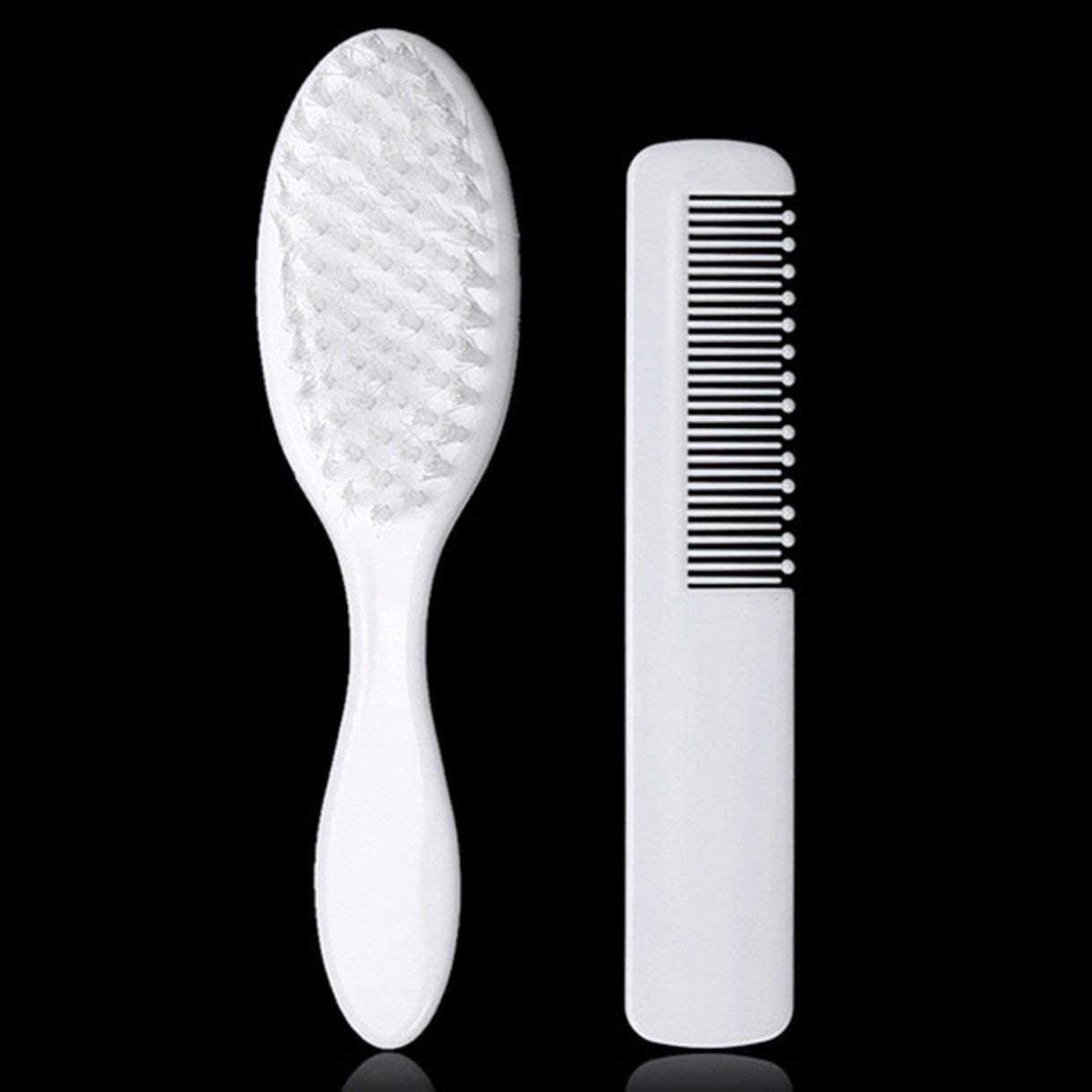 fengz Baby Hair Brush and Comb Set for Newborns Toddlers Infant Safety Healthcare【K】