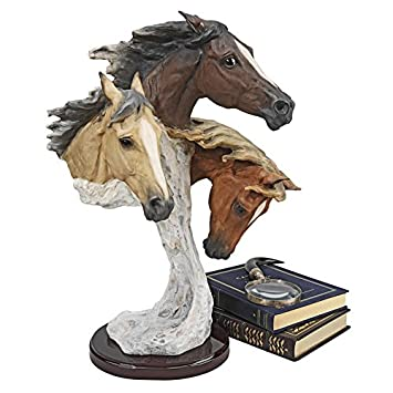 Large QS873 Design Toscano Racing the Wind Wild Horse Statue by Samuel Lightfoot