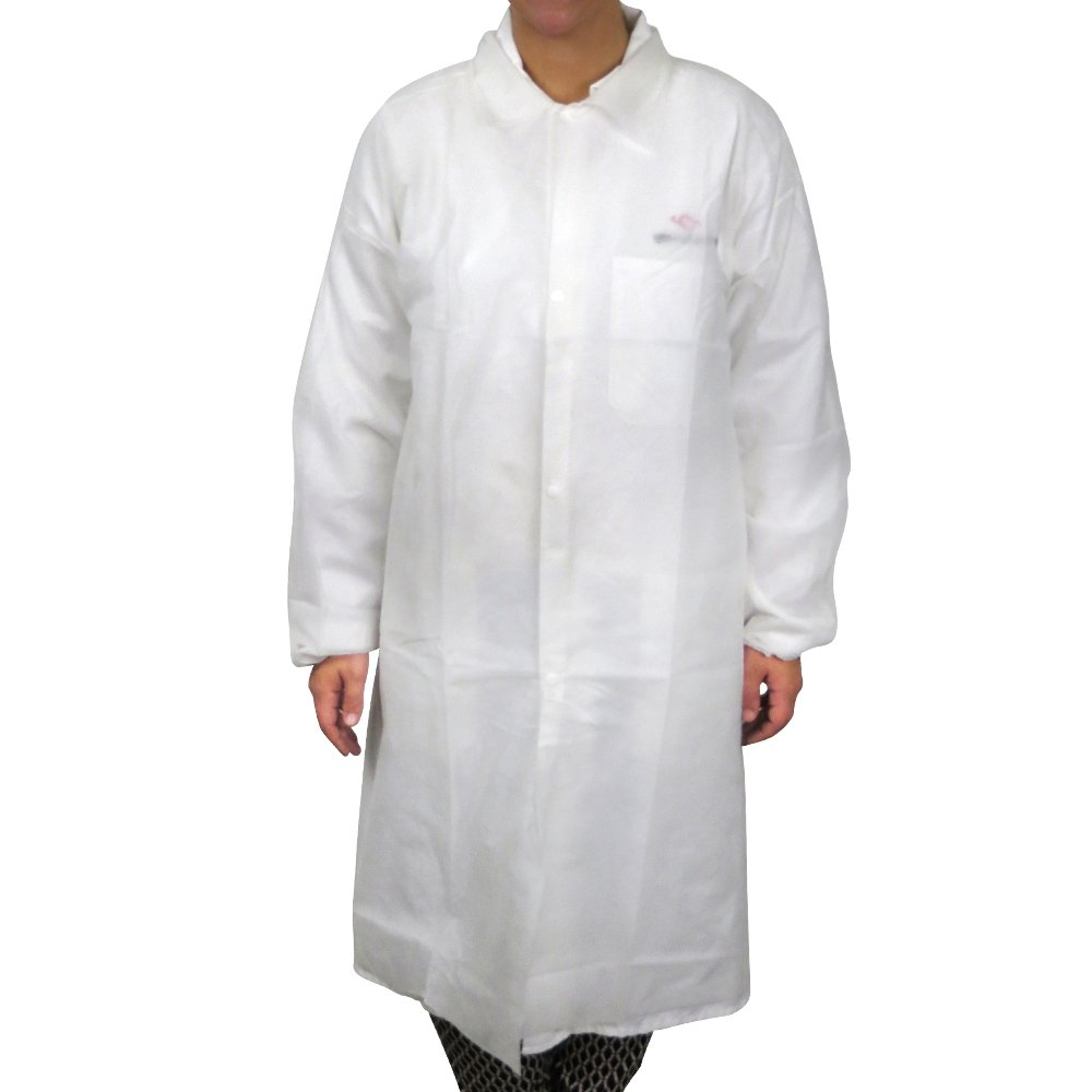 UltraSource Disposable Poly Lab Coats, Medium (Pack of 30) by UltraSource (Image #3)