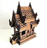 Thai Handmade Spirit-house Large, Size 13x9x17.5 inch.